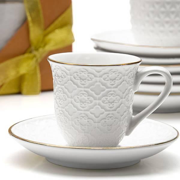 25774 Чайный набор 8пр 220мл фарфор LORAINE