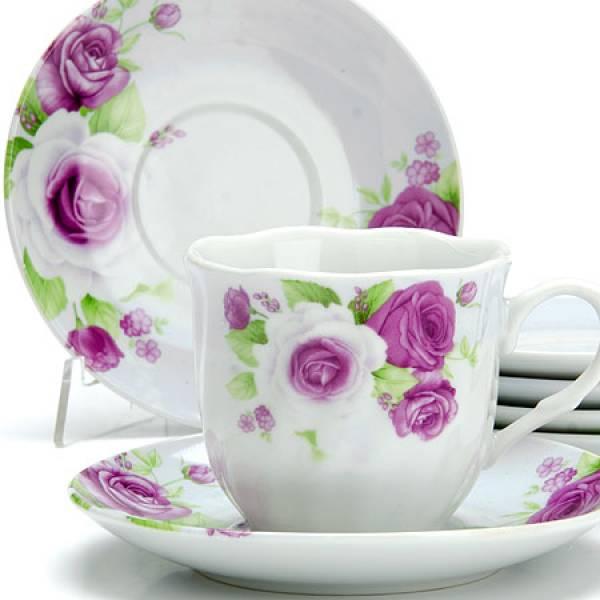 25914 Чайный сервиз 12пр 220мл ЦВЕТЫ LORAINE