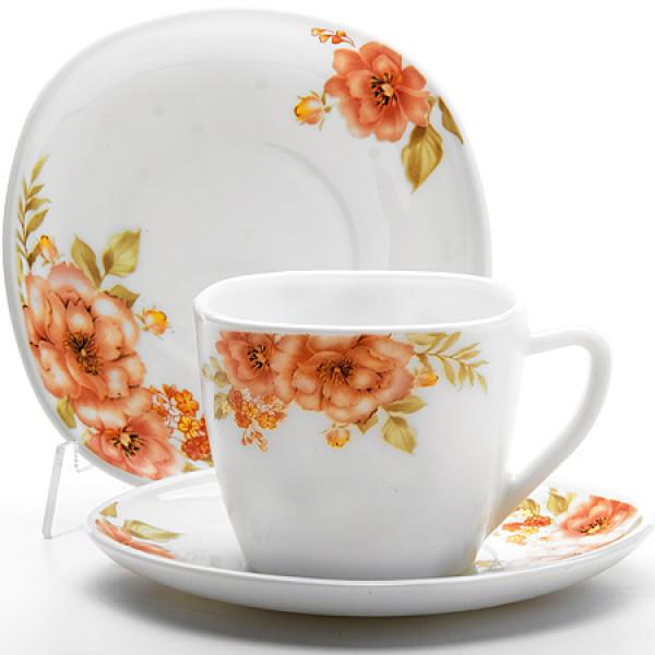 24109 Чайный набор 12 пр Цветы LR (х6)