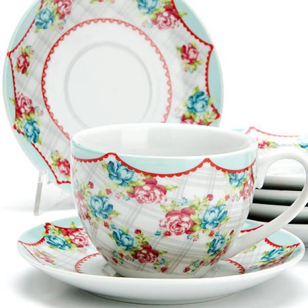 25925 Чайный сервиз 12пр 220мл ЦВЕТЫ LORAINE