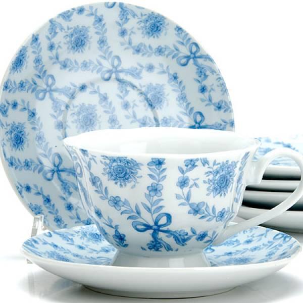 25919 Чайный сервиз 12пр 150мл ЦВЕТЫ LORAINE
