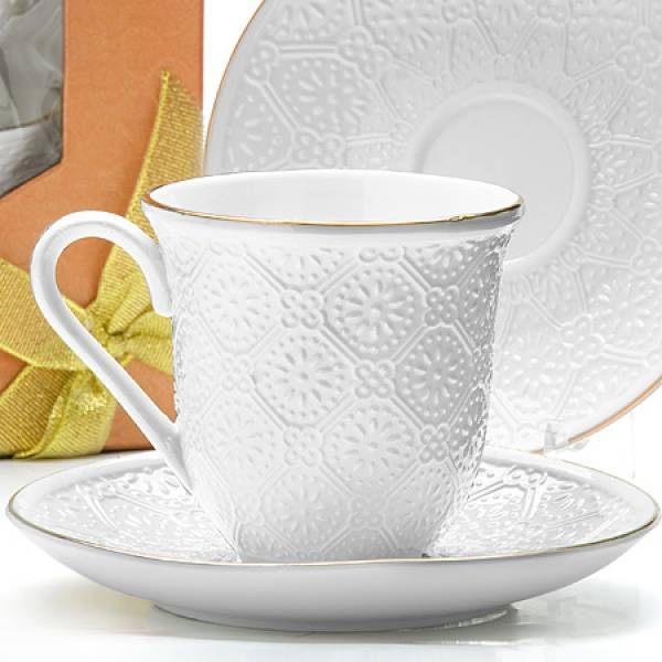 25777 Чайный набор 8пр 240мл фарфор LORAINE