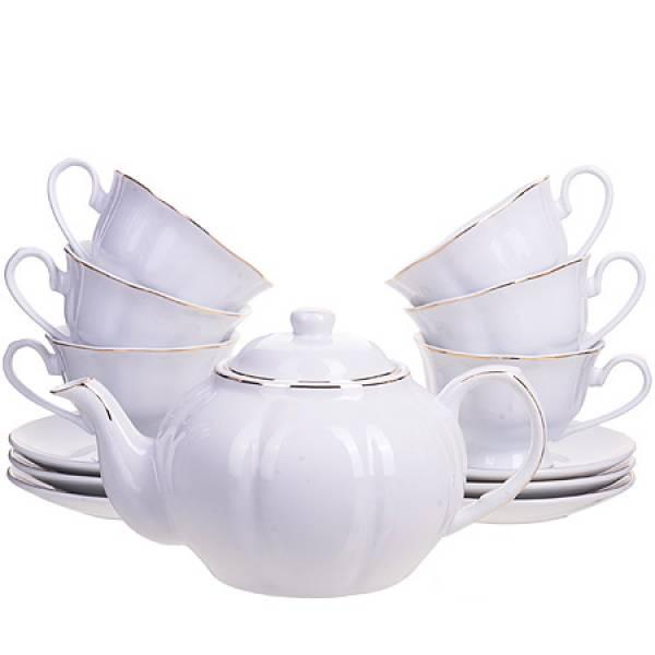 25933 Чайный сервиз14пр с чайником 1л LORAINE