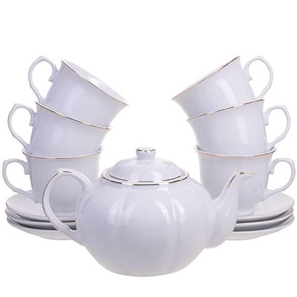 25935 Чайный сервиз14пр с чайником 1л LORAINE