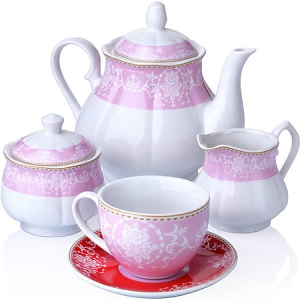 27855 Чайный сервиз 15 пр фарфор 220мл LORAINE