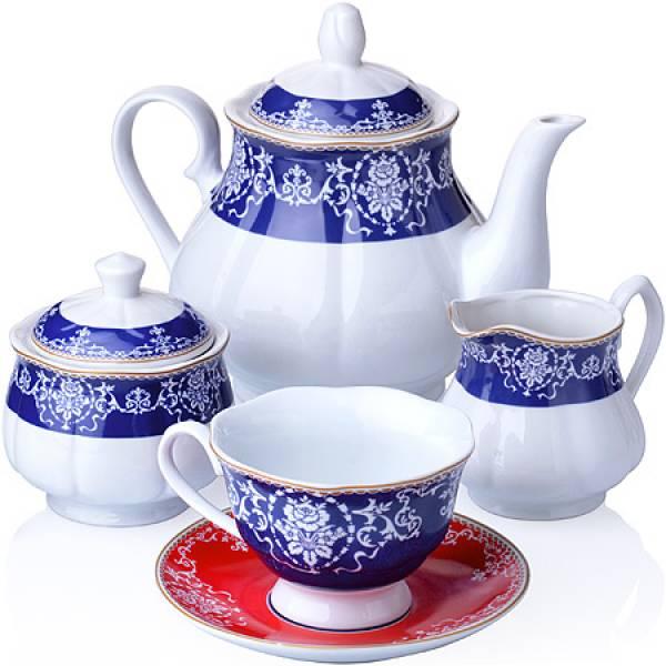 27857 Чайный сервиз 15 пр фарфор 220мл LORAINE