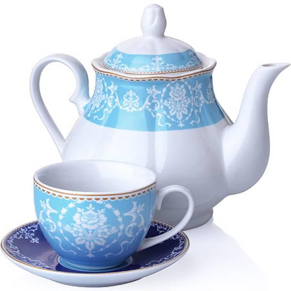 27847 Чайный сервиз 13 пр фарфор 220мл LORAINE