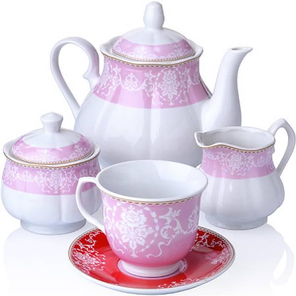 27852 Чайный сервиз 15 пр фарфор 220мл LORAINE