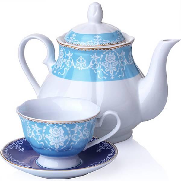 27850 Чайный сервиз 13 пр фарфор 220мл LORAINE