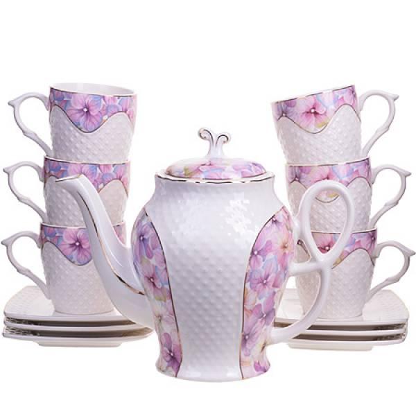 26837 Чайный/сер. 13пр (220мл+1,3л чайник) LORAINE