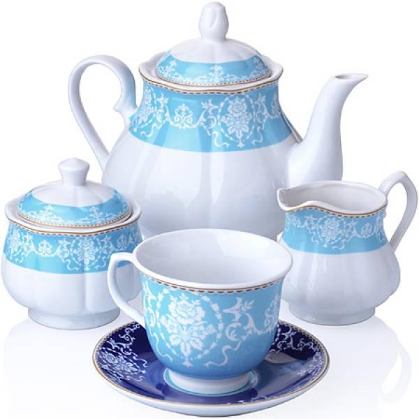 27853 Чайный сервиз 15 пр фарфор 220мл LORAINE