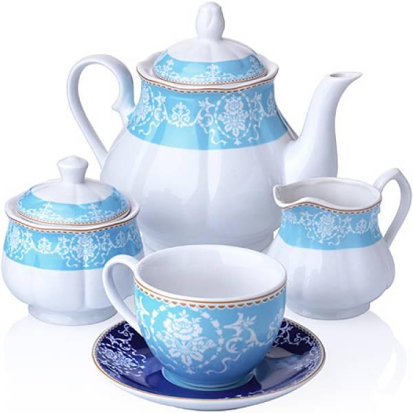 27856 Чайный сервиз 15 пр фарфор 220мл LORAINE