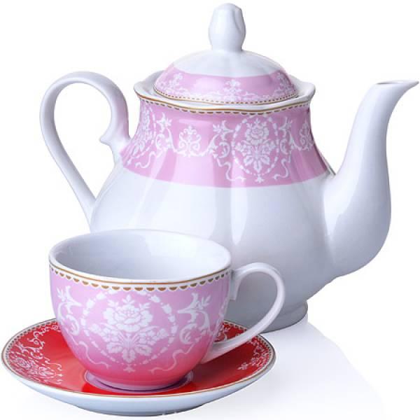 27846 Чайный сервиз 13 пр фарфор 220мл LORAINE