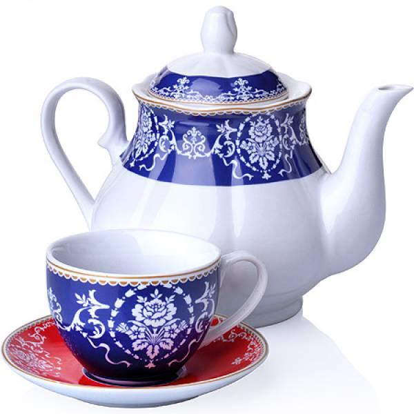 27845 Чайный сервиз 13 пр фарфор 220мл LORAINE
