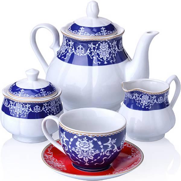 27854 Чайный сервиз 15 пр фарфор 220мл LORAINE