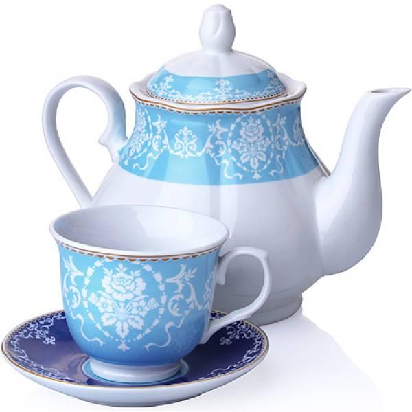 27844 Чайный сервиз 13 пр фарфор 220мл LORAINE