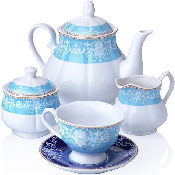 27859 Чайный сервиз 15 пр фарфор 220мл LORAINE