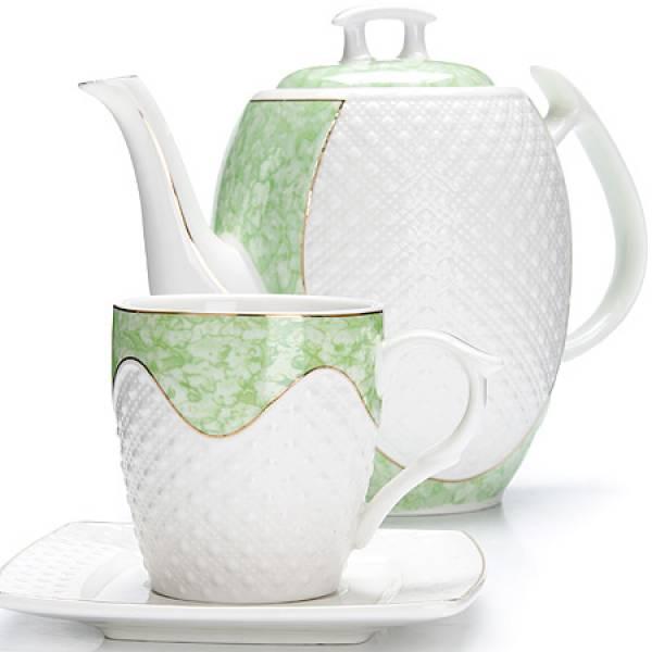 26834 Чайный/сер. 13пр (220мл+1,3л чайник) LORAINE