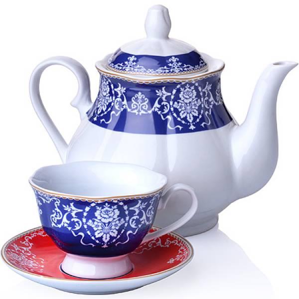 27848 Чайный сервиз 13 пр фарфор 220мл LORAINE