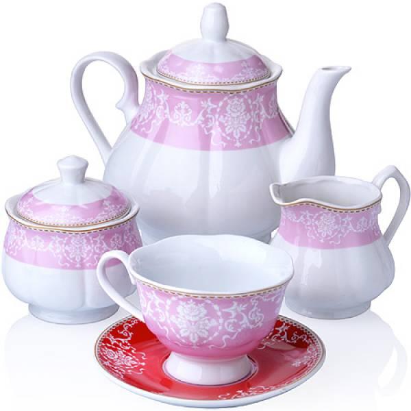 27858 Чайный сервиз 15 пр фарфор 220мл LORAINE
