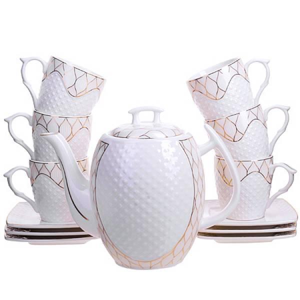 26835 Чайный/сер. 13пр (200мл+1,3л чайник) LORAINE
