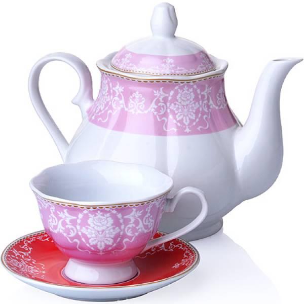 27849 Чайный сервиз 13 пр фарфор 220мл LORAINE
