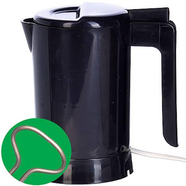 002-Ч Мини чайник SH черный с теном 0,5л