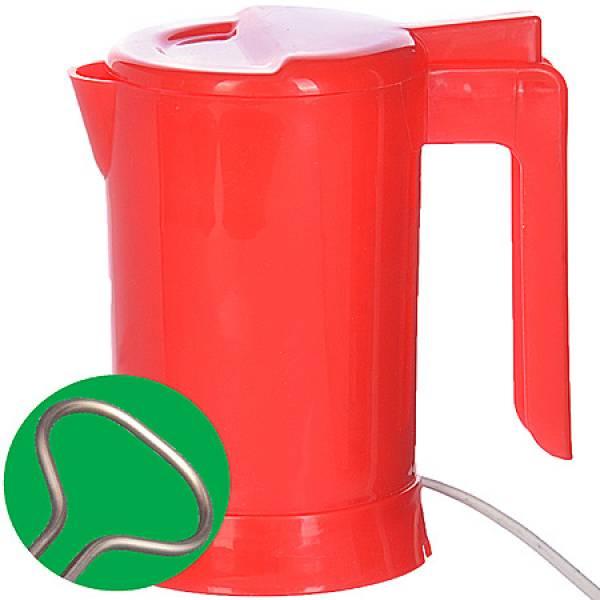 002-К Мини чайник SH красный с теном 0,5л