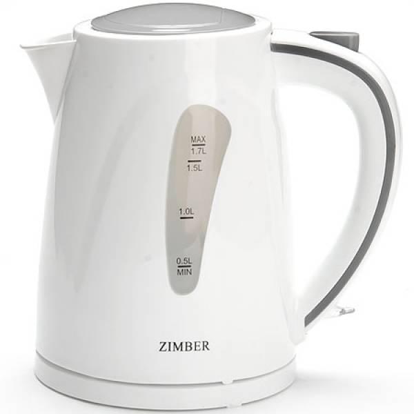 11109 Чайник дисковый 1,7л пласт/кор 2200Вт ZIMBER