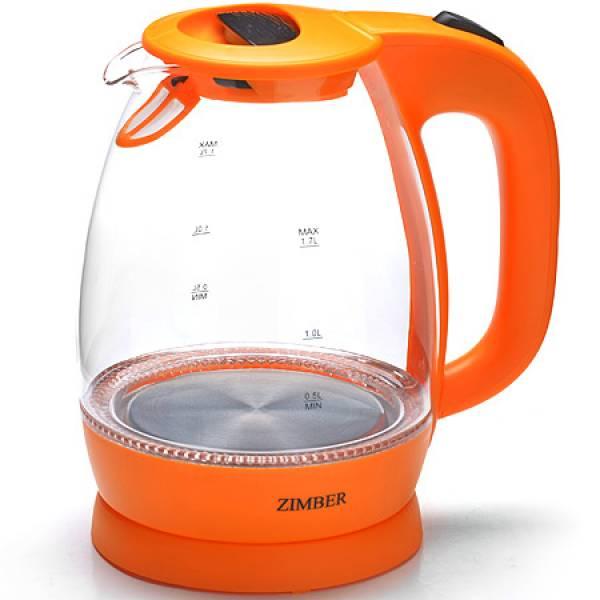 11177 Эл. чайник стекло 1,7л 2200Вт ZM (х6)