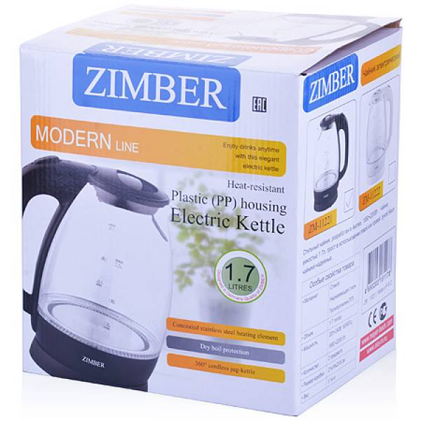 11221 Эл. чайник 1,7л 2200Вт с подсветкой ZIMBER