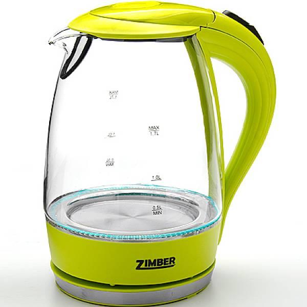 11175 Эл. чайник стекло 1,7л 2200Вт ZIMBER