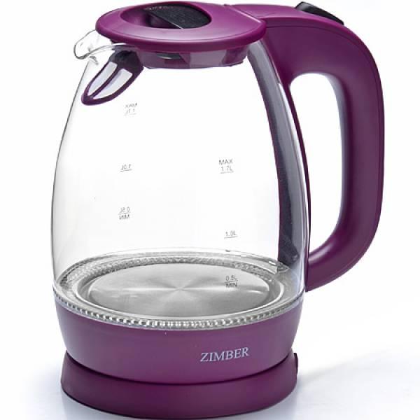 11176 Эл. чайник стекло 1,7л 2200Вт ZIMBER