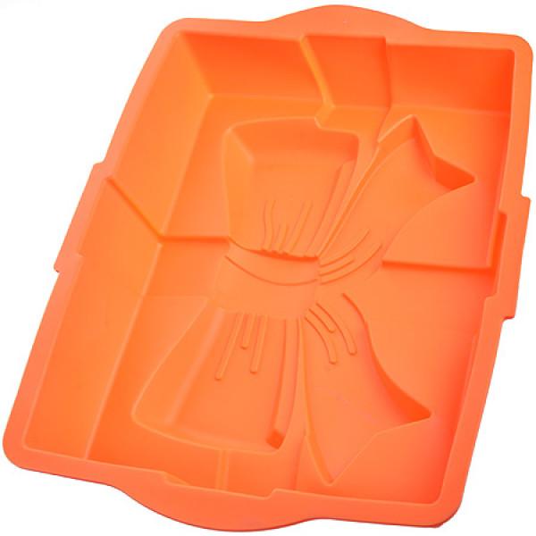 21981-2 Форма д/кекса силикон оранжевая 1,4л 31х23х6 МВ(х72)
