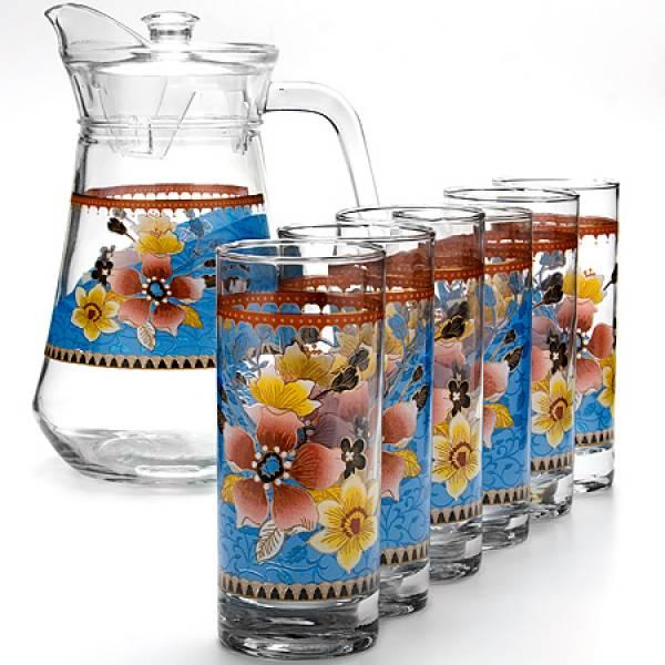 24064 Набор стаканов 6шт+графин 7 пр. LORAINE