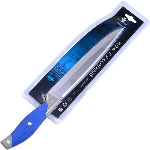 08-SS Нож в упаковке силикон/руч 33 см MAYER&BOCH