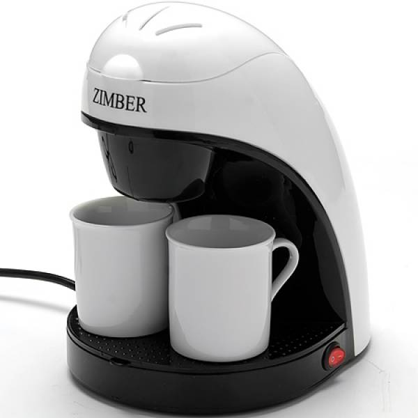10981 Электро-кофеварка 240мл 450В 2 чашк ZIMBER