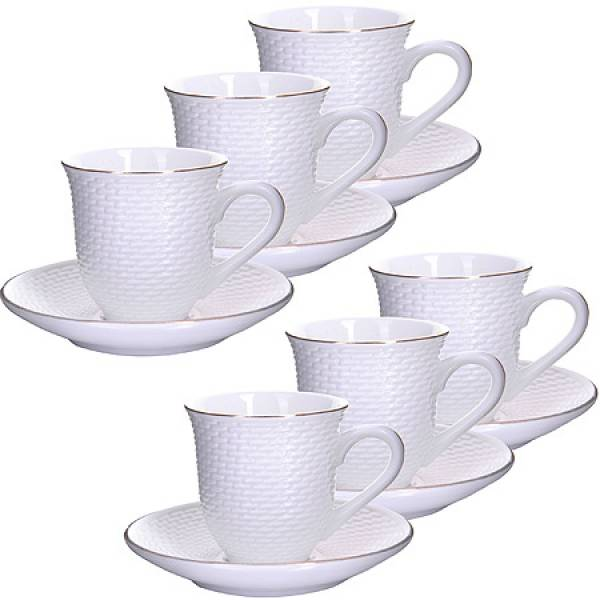 25770 Кофейный набор 12пр 90мл фарфор LORAINE