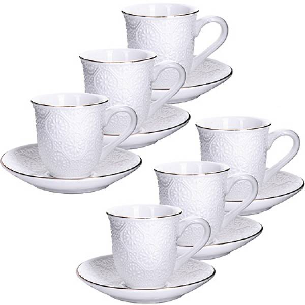 25772 Кофейный набор 12пр 90мл фарфор LORAINE