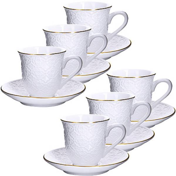 25769 Кофейный набор 12пр 90мл фарфор LORAINE