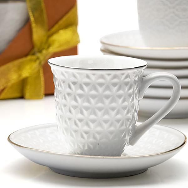 25771 Кофейный набор 12пр 90мл фарфор LR (х12)