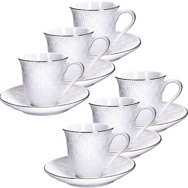 25773 Кофейный набор 12пр 90мл фарфор LORAINE