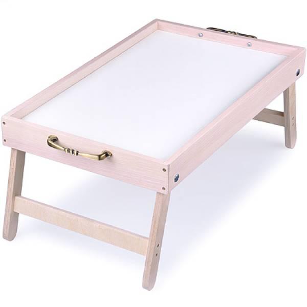 8891 Столик для завтрака 30см Бамбук серый MAYER&BOCH