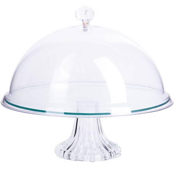28672 Блюдо с крышкой стекло 26х26см LR (х8)