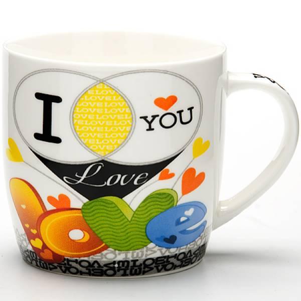 24469 Кружка 320мл I LOVE YOU LR в под/упак (х48)