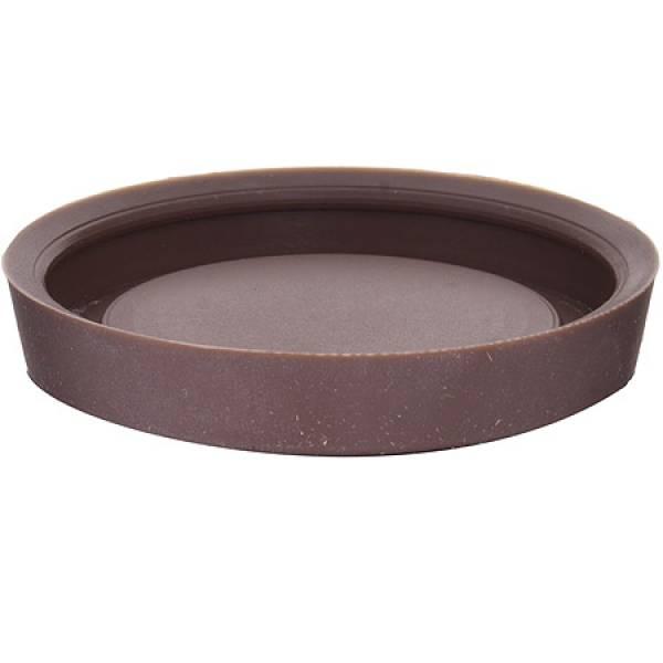 23554 Кружка 360мл с силиконовой подставкой керамика LORAINE