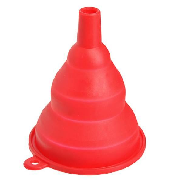 29443 Воронка 9,5 см силикон.красная МВ