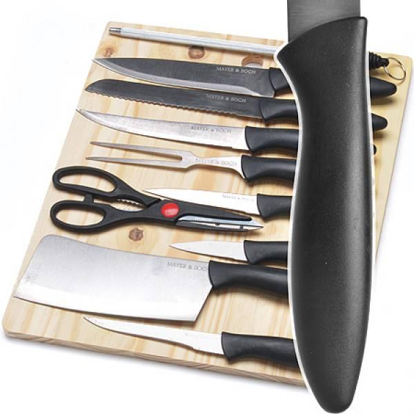 26996 Набор ножей (11пр) /разд/доска MAYER&BOCH