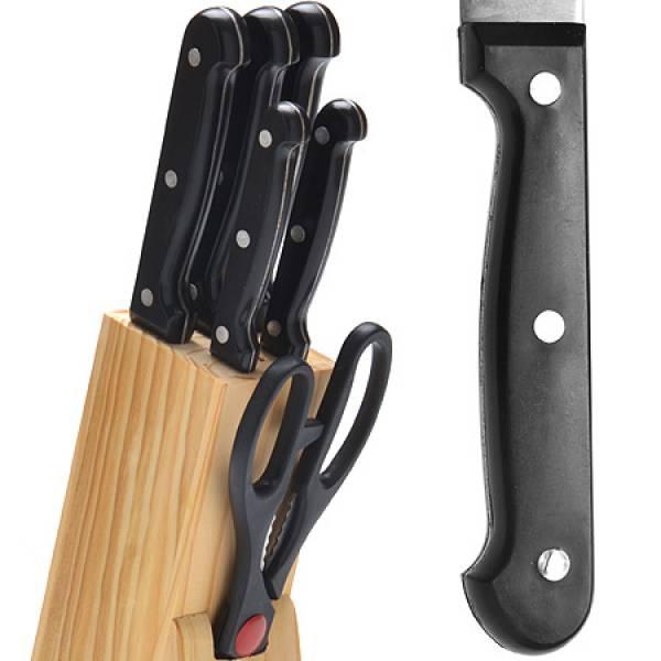 27423 Набор ножей 7пр на подст. + ножницы MAYER&BOCH