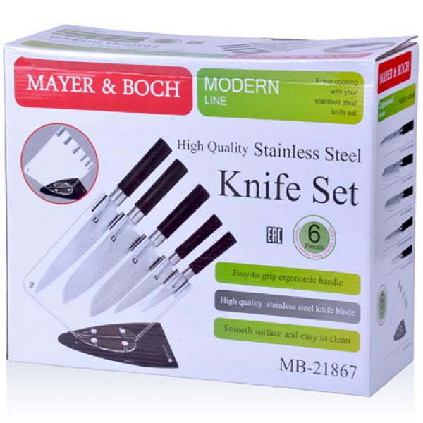 21867 Набор ножей 6 пр на подставке МВ (х6)